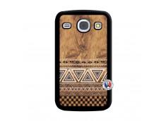 Coque Samsung Galaxy Core Aztec Deco Noir