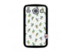 Coque Samsung Galaxy Core Le Monde Entier est un Cactus Noir