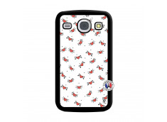 Coque Samsung Galaxy Core Cartoon Heart Noir