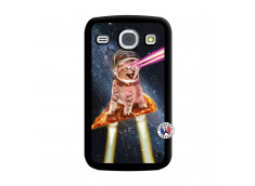 Coque Samsung Galaxy Core Cat Pizza Noir