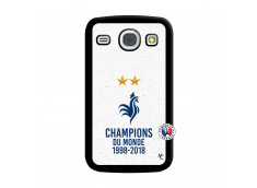 Coque Samsung Galaxy Core Champion Du Monde Noir