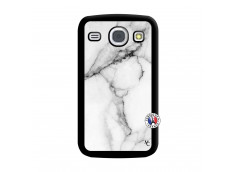 Coque Samsung Galaxy Core White Marble Noir