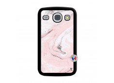 Coque Samsung Galaxy Core Marbre Rose Noir
