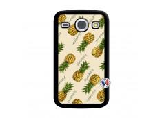 Coque Samsung Galaxy Core Sorbet Ananas Noir