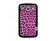 Coque Samsung Galaxy Core Pink Leopard Noir