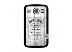 Coque Samsung Galaxy Core White Old Jack Noir