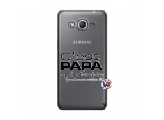 Coque Samsung Galaxy Grand Prime C'est Papa Qui Décide Quand Maman n'est pas là
