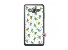 Coque Samsung Galaxy Grand Prime Le Monde Entier est un Cactus Translu