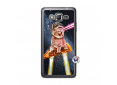 Coque Samsung Galaxy Grand Prime Cat Pizza Translu