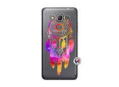 Coque Samsung Galaxy Grand Prime Dreamcatcher Rainbow Feathers