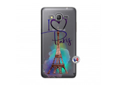 Coque Samsung Galaxy Grand Prime I Love Paris