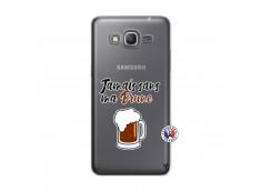Coque Samsung Galaxy Grand Prime Jamais Sans Ma Brune