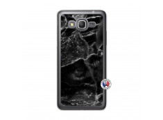 Coque Samsung Galaxy Grand Prime Black Marble Translu