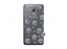 Coque Samsung Galaxy Grand Prime Petits Elephants