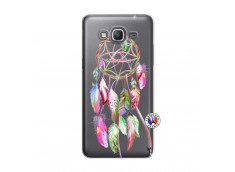 Coque Samsung Galaxy Grand Prime Pink Painted Dreamcatcher