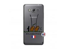 Coque Samsung Galaxy Grand Prime 100 % Rugbyman Entre les Poteaux