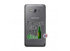 Coque Samsung Galaxy Grand Prime Tout Travail Merite Sa Biere