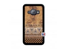 Coque Samsung Galaxy J1 2015 Aztec Deco Noir