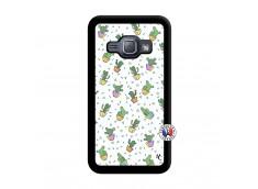 Coque Samsung Galaxy J1 2015 Le Monde Entier est un Cactus Noir