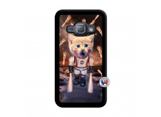 Coque Samsung Galaxy J1 2015 Cat Nasa Noir