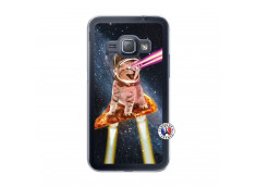 Coque Samsung Galaxy J1 2015 Cat Pizza Translu