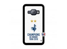 Coque Samsung Galaxy J1 2015 Champion Du Monde Noir