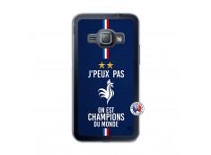 Coque Samsung Galaxy J1 2015 Je Peux Pas On Est Les Champions Du Monde Translu