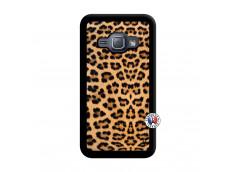Coque Samsung Galaxy J1 2015 Leopard Style Noir
