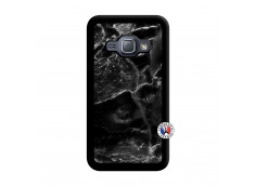 Coque Samsung Galaxy J1 2015 Black Marble Noir