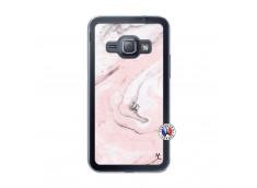 Coque Samsung Galaxy J1 2015 Marbre Rose Translu