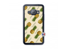 Coque Samsung Galaxy J1 2015 Sorbet Ananas Translu