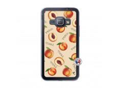 Coque Samsung Galaxy J1 2015 Sorbet Pêche Translu