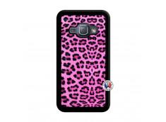 Coque Samsung Galaxy J1 2015 Pink Leopard Noir