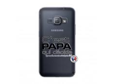 Coque Samsung Galaxy J1 2016 C'est Papa Qui Décide Quand Maman n'est pas là