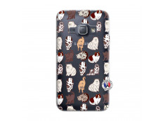 Coque Samsung Galaxy J1 2016 Cat Pattern