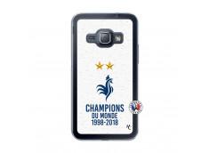 Coque Samsung Galaxy J1 2016 Champion Du Monde Translu