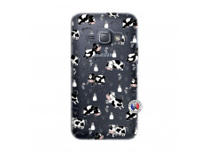 Coque Samsung Galaxy J1 2016 Cow Pattern