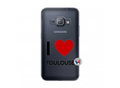 Coque Samsung Galaxy J1 2016 I Love Toulouse