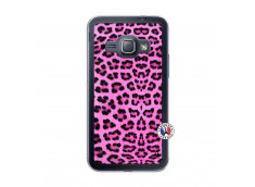 Coque Samsung Galaxy J1 2016 Pink Leopard Translu