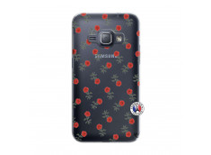 Coque Samsung Galaxy J1 2016 Rose Pattern