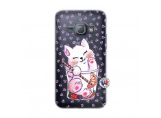 Coque Samsung Galaxy J1 2016 Smoothie Cat
