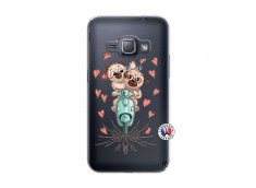 Coque Samsung Galaxy J1 2016 Puppies Love