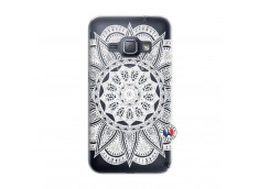 Coque Samsung Galaxy J1 2016 White Mandala