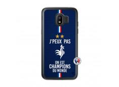 Coque Samsung Galaxy J2 2018 Je Peux Pas On Est Les Champions Du Monde Translu