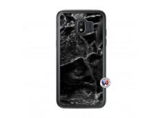 Coque Samsung Galaxy J2 2018 Black Marble Translu