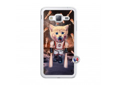 Coque Samsung Galaxy J3 2016 Cat Nasa Translu