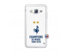 Coque Samsung Galaxy J3 2016 Champion Du Monde Translu
