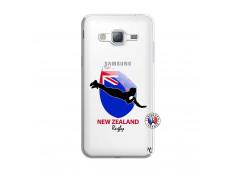 Coque Samsung Galaxy J3 2016 Coupe du Monde Rugby- Nouvelle Zélande