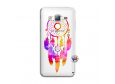 Coque Samsung Galaxy J3 2016 Dreamcatcher Rainbow Feathers