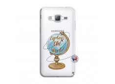 Coque Samsung Galaxy J3 2016 Globe Trotter